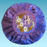 Victorian Era Initial H Round Pillow