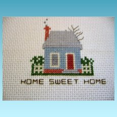 Small Counted Cross Stitched Home Sweet Home