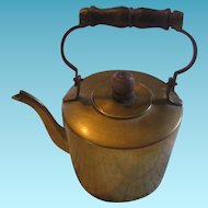 Miniature Brass Tea Kettle for Large Antique Doll Display