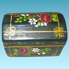 Miniature Domed Top Painted Trunk or Chest for Dollhouse or Display