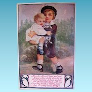 Sunday School Rally Day Postcard with Adorable Children