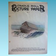 Vintage Cradle Roll Picture Paper Lot from 1930s