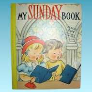 My Sunday Book 1956 Plastic Book