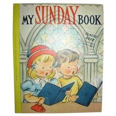 My Sunday Book 1956 Plastic Book