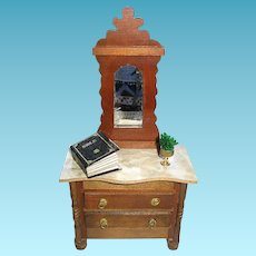 Vintage Shackman Victorian Style Dresser Dry Sink and Curio Cabinet
