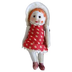 Happy Little Miniature Bisque Dollhouse Doll
