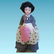 Gettysburg Souvenir Tagged Jenny Wade Doll in Original Box