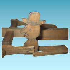 Primitive Wood Folk Art Whirligig Pieces for Toys