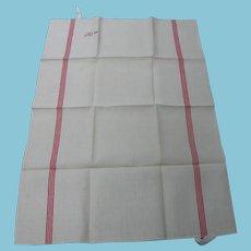 Vintage Towel Pristine Condition Stripes Initials & Date
