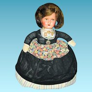 Vintage Kitchen Tea Caddy Doll Cover for Toaster Mixer or Canister