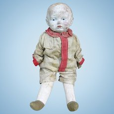 Early 1900s Composition and Cloth Boy Doll