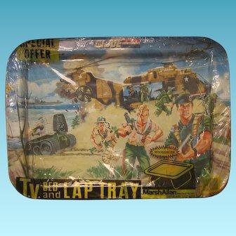 Vintage GI Joe Lap Tray in Original Special Offer Wrapper