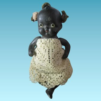 Little Black Americana Bisque Doll Made in Occupied Japan