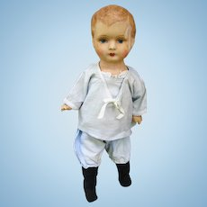 Old Papier Mache Doll in Sailor Outfit