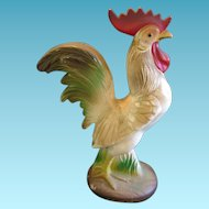 Vintage Knickerbocker Hard Plastic Rooster Chicken Bank Something to Crow About