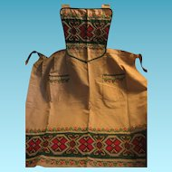 Beautifully Embroidered Costume Apron from Europe