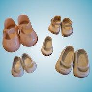 Vintage Vinyl Doll Shoes 4 Pair Variety