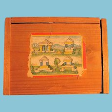 Miniature Wooden Block Building Set Made in Germany