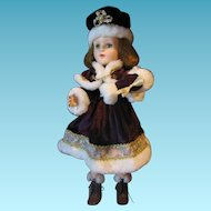 1950s American Character Sweet Sue Walker in Winter Holiday Costume