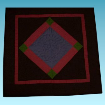 Vintage Amish Made Quilt Wall Hanging