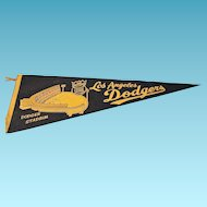 RARE 1966 National League Champions LA Dodgers Baseball Pennant
