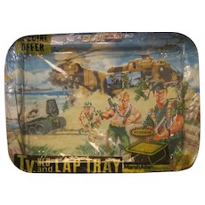 GI Joe Lap Tray in Original Special Offer Wrapper from 1980s