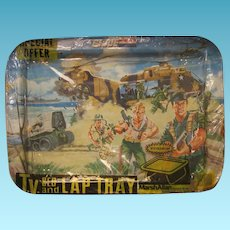 Vintage GI Joe Lap Tray in Original Special Offer Wrapper