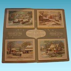 Sample Christmas Card Folder 1963 Currier & Ives Salesman Sample