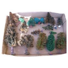 Vintage Christmas Trees Assortment for Displays