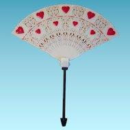 Vintage Valentine Filigree Fan Shaped Floral Adornment