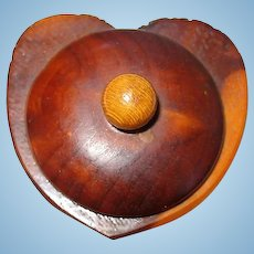 Miniature Heart Shaped Wooden Trinket Box for Your Favorite Doll
