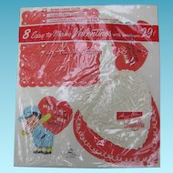 Vintage Valentines 2 Packages Unused Ready to Make Cards in Original Wrappers