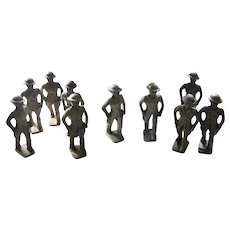 10 NOS Grey Iron WWI Officer Soldiers from 1930s