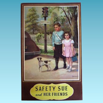 Safety Sue and Her Friends 1946 Booklet with Adelaide Hiebel Artwork