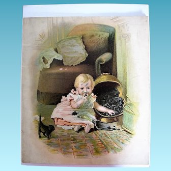 Late 1800s Malena Picture Story Book Promotional Give Away