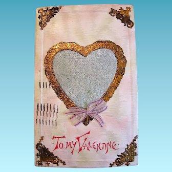 Perfume Heart Center Valentine Postcard from 1913
