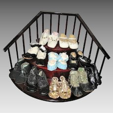 Collection of Antique and Vintage Baby Shoes 10 Pair