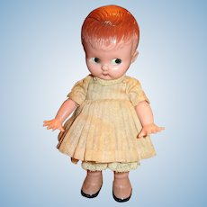 Adorable Original Little Knickerbocker Kewpie Type Doll