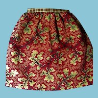 Amazing Hand Stitched Doll Skirt for China Head Rag Doll or Bear