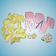 Assortment of Vintage Undies Bonnets and Tube Tops for Ginny and Smaller Sized Dolls