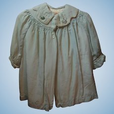 Vintage Blue Silk Coat for Baby or Doll
