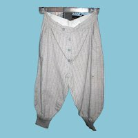 Vintage Boys 1930s Knickers with Belted Waist and Knit Cuffs