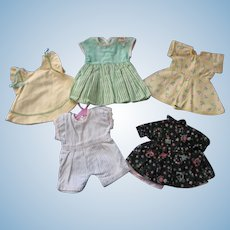 Dresses and Playsuit for Composition Patsy Type Dolls Lot #2