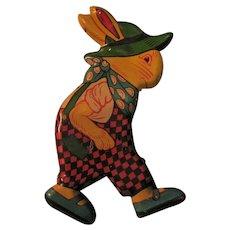 Vintage Tin Litho J Chein Bunny Rabbit