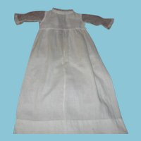 Antique Doll Dress or Gown with Sheer Lace Net Sleeves for Baby Doll
