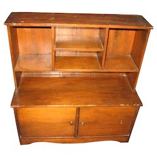 Wooden Doll Hutch Stepback Cupboard Great Old Toy