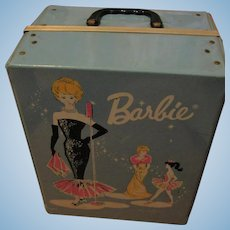 1962 Vintage Barbie Double Sized Case with Drawers and Rod