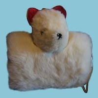 Childs Vintage Bear and Doll Head Muff