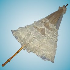 Victorian or Edwardian Era Lace Parasol for Re-enactments or A Collection