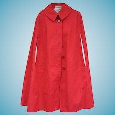 Vintage 1940s Misty Harbor Rain Coat Cape Cloak Slicker